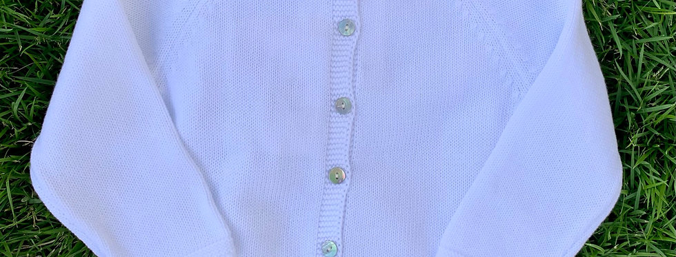 White Lux Cardigan