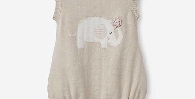 Elephant Knit Romper