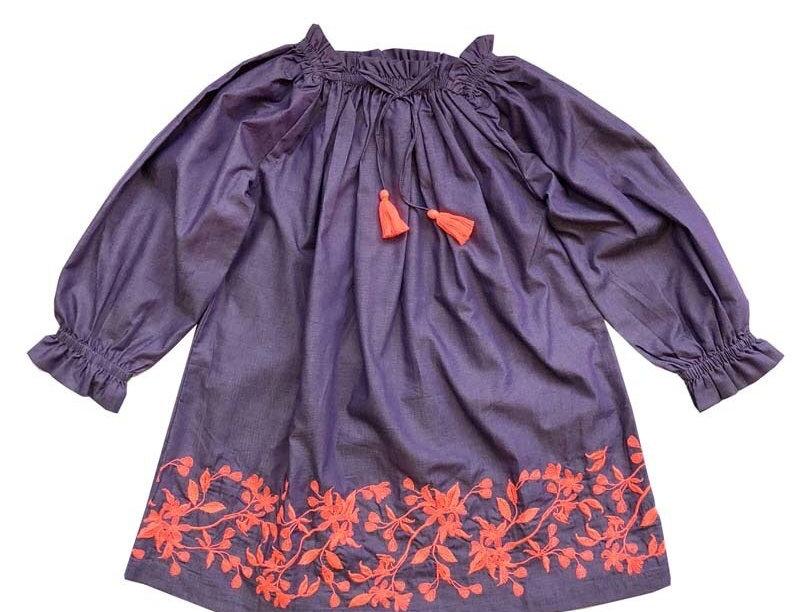 Off Shoulders Purple Dress