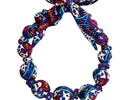 Wooden Bead Necklace Multicolor