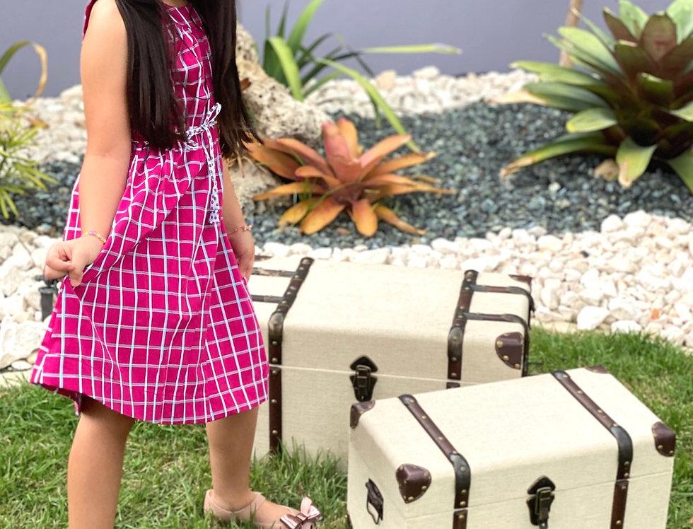 Fuchsia Plaid Dress