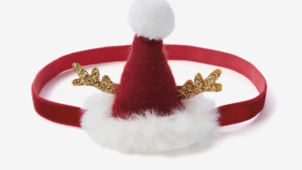 Baby Girl Headband Santa Hat