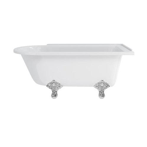 Hampton 150cm Right Handed Showering Bath with Standard Feet