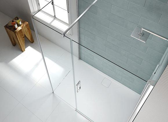 8 Series Frameless Pivot Shower Door & Inline Panel