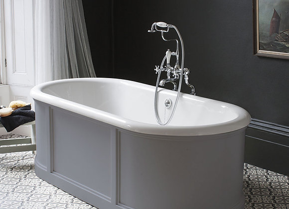 London Bath with Curved Surround