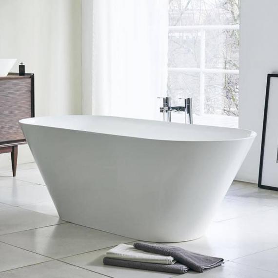 White freestanding taps with chrome freestanding taps