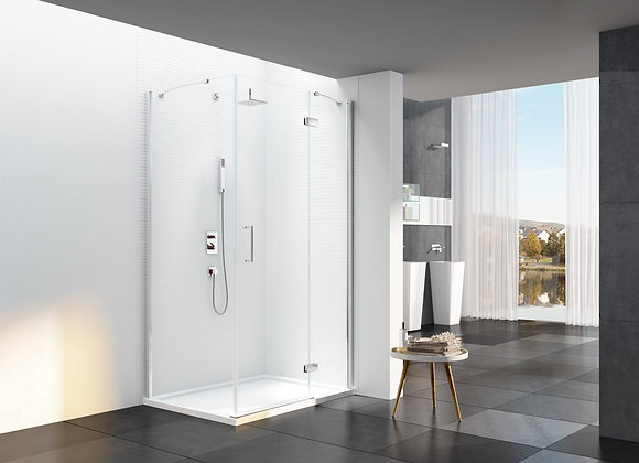 6 Series Frameless Hinge & Inline with Side Panel