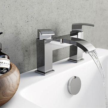 chrome bathroom mixer tap