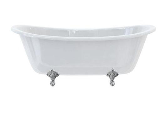 Bateau Double Ended Bath with Standard Feet