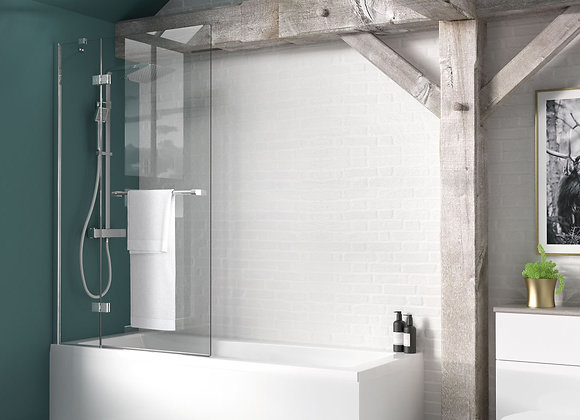 Inspire Two Panel Out-Swing Bath Screen