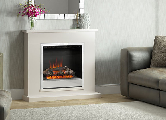 """40"""" Elsham Electric Fireplace in Pearlescent Cashmere Painted Finish"""