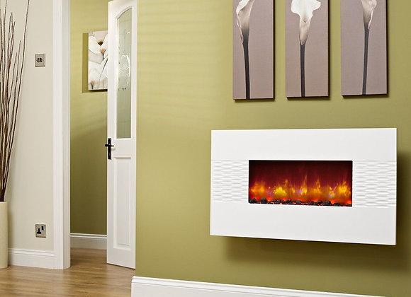 Be Modern Orlando White Gloss Electric Fire