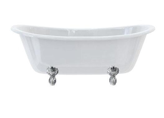 Bateau Double Ended Bath with Luxury Feet