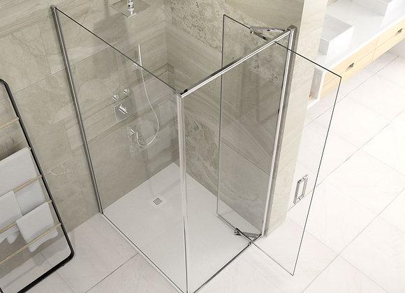ARYSTO EIGHT Infold Shower Door with Side Panel