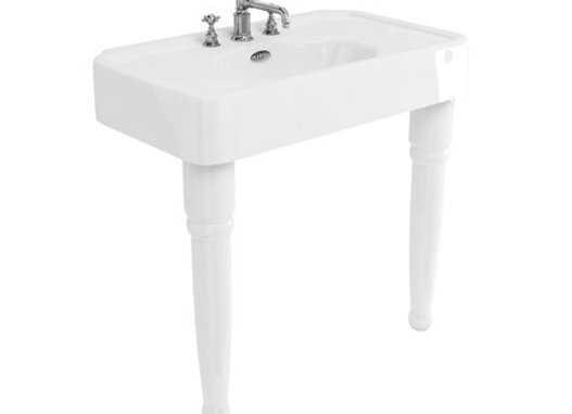Arcade 900mm basin with Overflow & Ceramic Console Legs