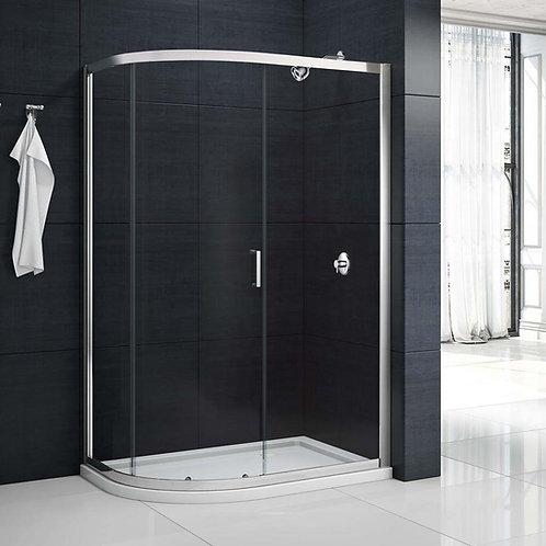 MBOX 1 Door Offset Quadrant Shower Enclosure