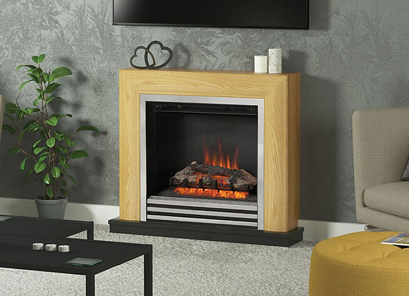 """34"""" Devonshire Electric Fireplace in Natural Oak Finish"""
