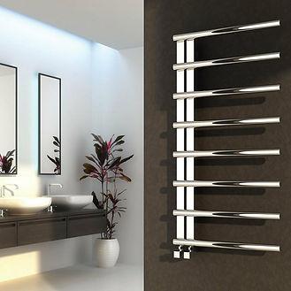 bathroom heated radiator