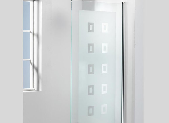 Genesis Square Frosted Bath Screen