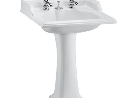 Classic 65cm Basin with Invisible Overflow & Classic Standard Pedestal