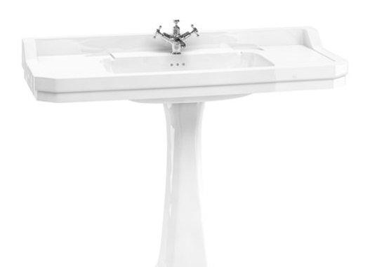 Edwardian 120cm Basin with Classic Pedestal
