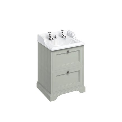 Freestanding 65 Unit - 2 drawers and Classic Invisible Overflow Basin