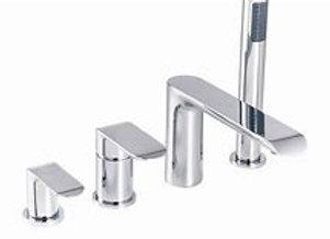 Lenola Bath Tap Shower Mixer Set White/Chrome