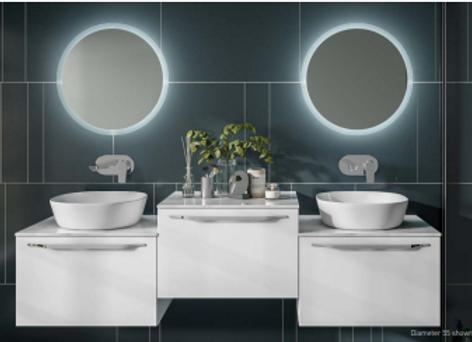 Konnex Round LED Mirror
