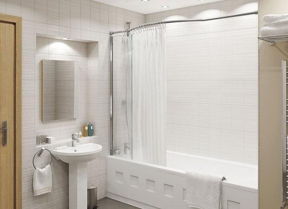 Inspire Shower Panel & Integrated Rail