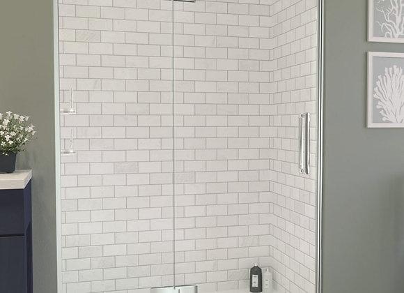 ARYSTO TEN Hinge Shower Door & Inline Panel in Recess