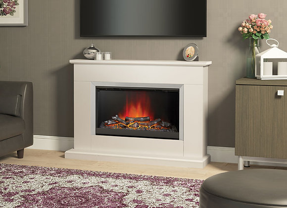 """46""""Hansford Electric Fireplace in Pearlescent Cashmere Painted Finish"""