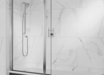 Olona - Offset Twin Pivot Bath Screen