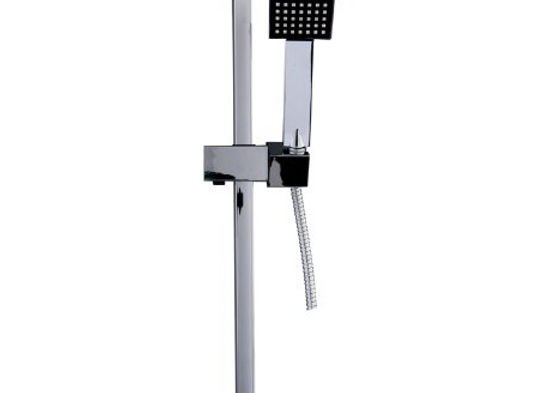 Cassellie Square Thermostatic Bar Valve & Square Slide Rail Kit Shower Bundle