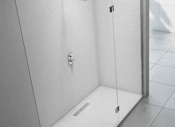 8 Series Wetroom with Curved Hinged Panel