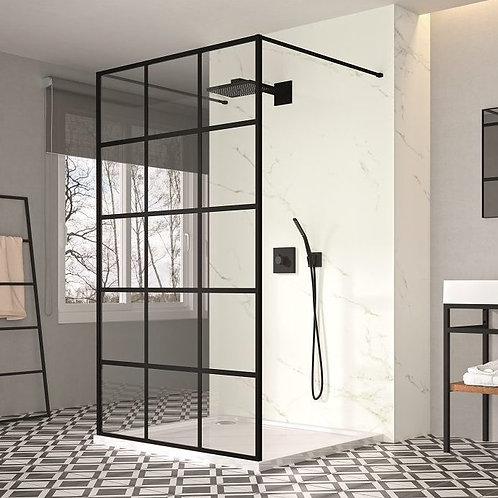 Black Double Entry Wetroom Panel
