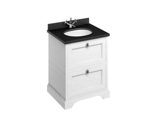 Freestanding 65 Unit - Black Granite Worktop/2 Drawers/Integrated Basin