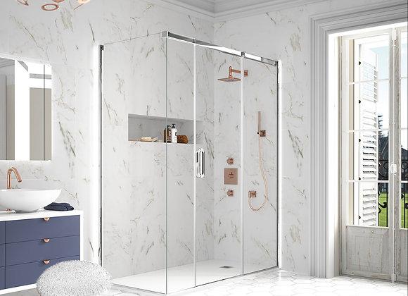 ARYSTO TEN 3 Panel Sliding Door with Side Panel