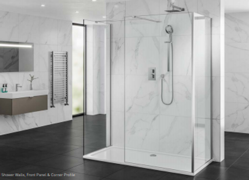 2 Shower Walls, Front Panel & Corner Profile