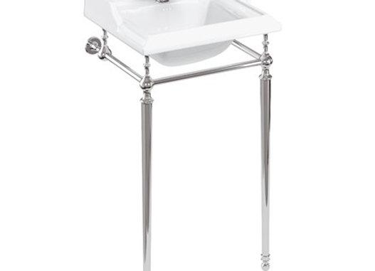 Classic Basin 50cm 1TH & Basin Wash Stand Chrome