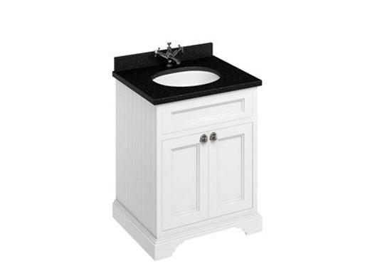 Freestanding 65 Unit - Black Granite Worktop/2 Doors/Integrated Basin