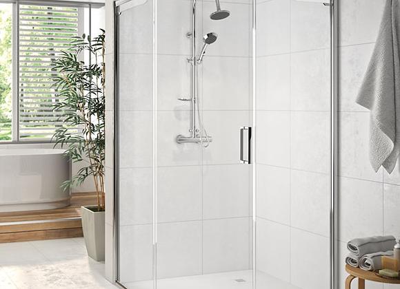 ARYSTO SIX 1 Door Offset Quadrant Shower Door