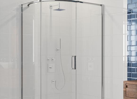 ARYSTO EIGHT 1 Door Offset Quadrant Shower Door