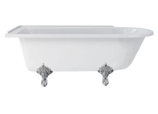Hampton 170cm Left Handed Showering Bath with Standard Feet