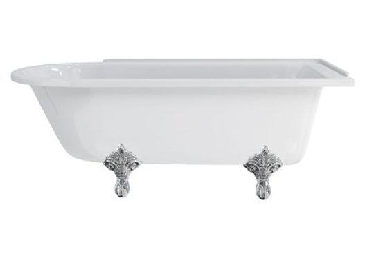 Hampton 170cm Right Handed Showering Bath with Standard Feet
