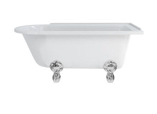 Hampton 150cm Right Handed Showering Bath with Luxury Feet