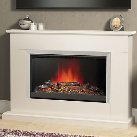 electric fire with cream surround