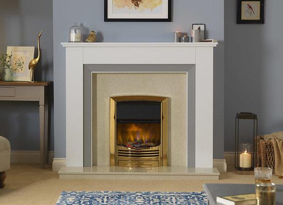Glencoe Brass Optiflame 3D Electric Inset Fire