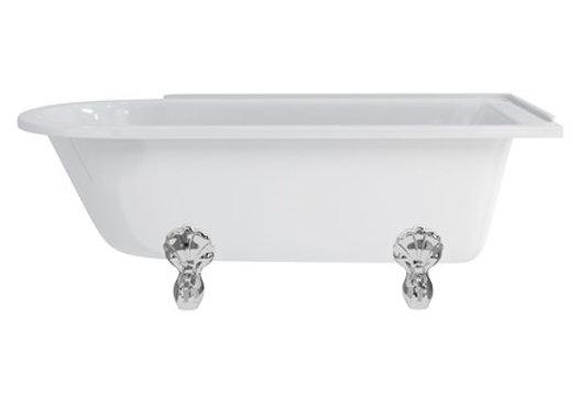 Hampton 170cm Right Handed Showering Bath with Luxury Feet