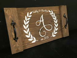 Tray with Laurels