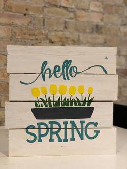 Hello Spring Planter
